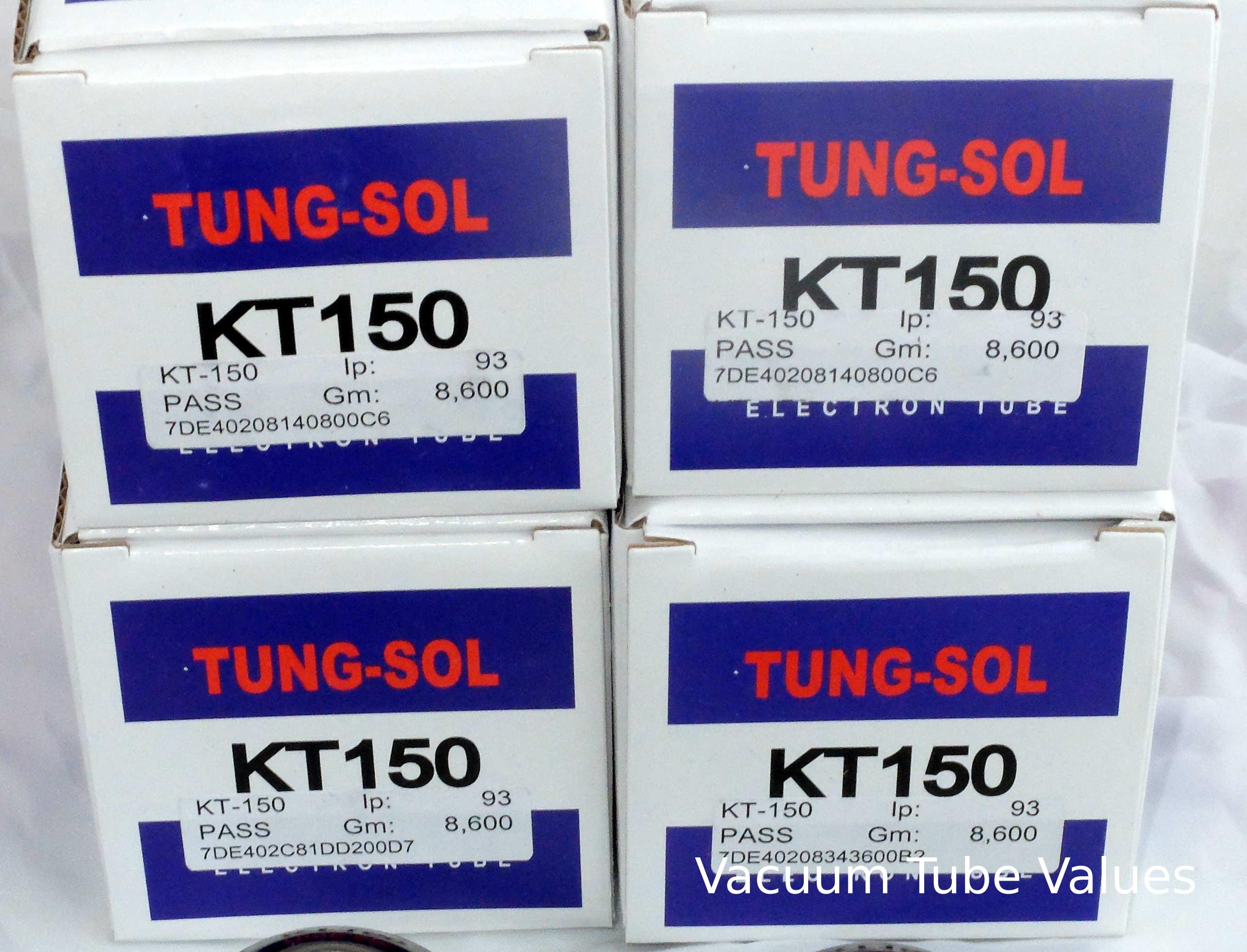 Tung-Sol Factory Platinum Matched QUAD (FOUR) KT150 Power Tubes