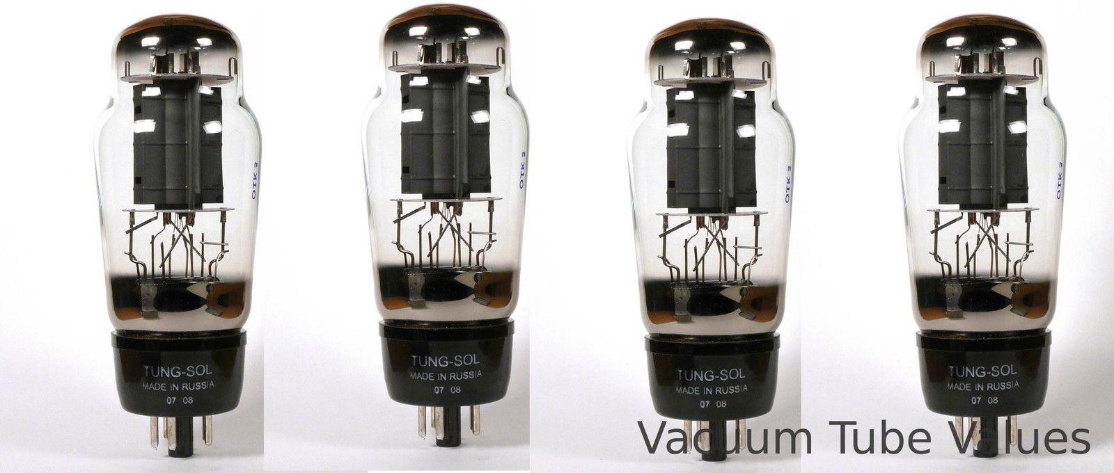 Tung Sol Platinum Factory Matched QUAD 6L6G 6L6 6L6GC Big Bulb Tube 24hr Burn In